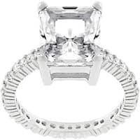 Kate Bissett Sterling Silver 5-carat CZ Engagement Ring