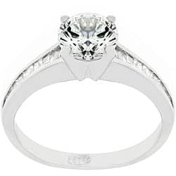 Kate Bissett Sterling Silver and CZ Engagement Ring