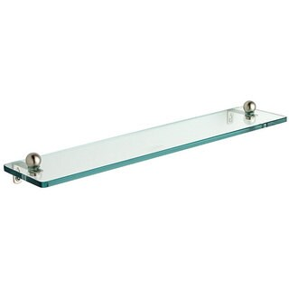 """Tempered Glass 16-inch Bathroom Shelf - 16"""" (4 options available)"""