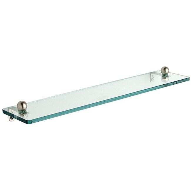 Tempered Glass 16 Inch Bathroom Shelf Free Shipping