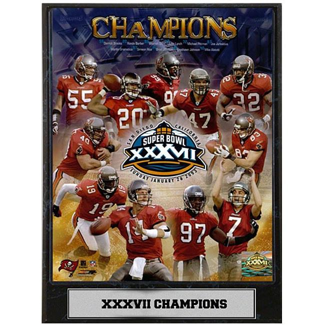 Buccaneers Super Bowl XXVII Champions Photo Plaque