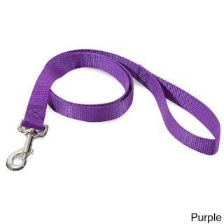 Majestic Pets 4-foot Nylon Dog Leash with Nickel-plated Metal Snap (Option: Purple)