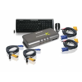 4 Port KVMP w Keyboard/Mouse