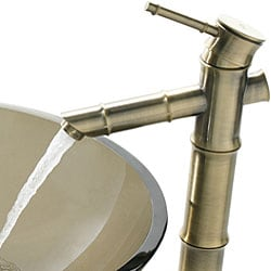 Kraus Bamboo-style Vessel Sink Bathroom Faucet