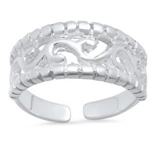 Sterling Silver Filigree Toe Ring