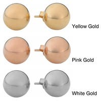 Fremada 14k Gold 6mm Ball Stud Earrings