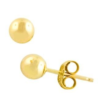 Fremada 14k Yellow Gold 4 mm Ball Earrings
