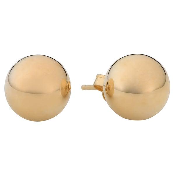 Fremada 14k Yellow Gold 6 mm Ball Stud Earrings