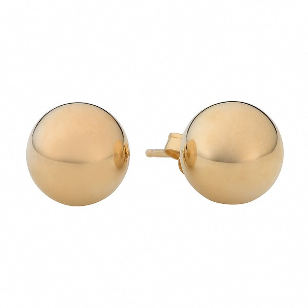 Fremada 14k Yellow Gold 8mm Ball Earrings