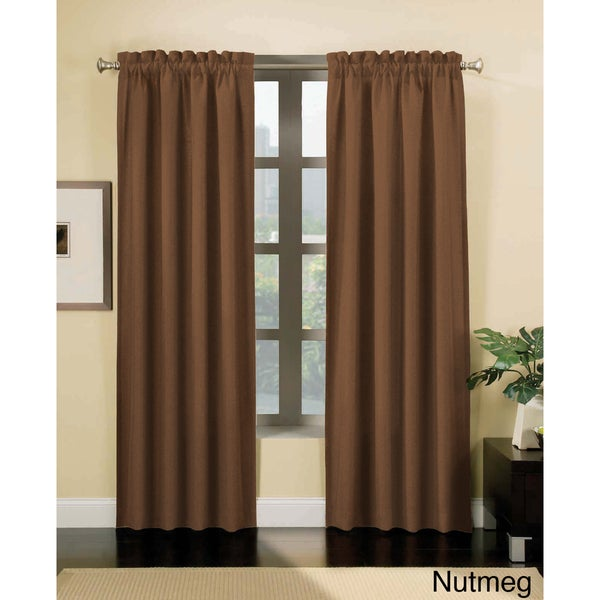 Thermal Backed Hopsack Blackout Curtain Panel Pair