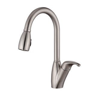 Kraus Kitchen Combo Set Stainless Steel Single Pullout Sprayer Faucet