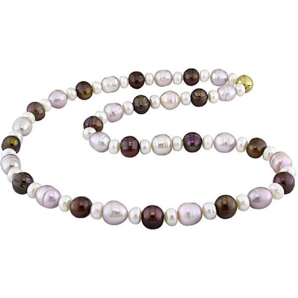Miadora Multi-colored Cultured Freshwater Pearl Necklace (8-9 mm)