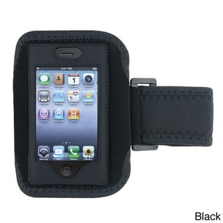 Insten Deluxe Black Secure Padded Workout Armband Case for Apple iPhones