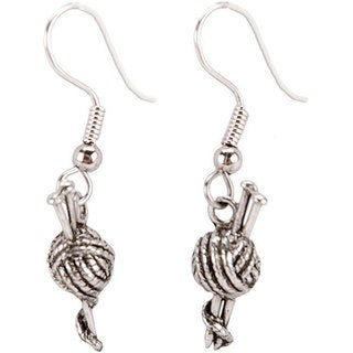 Charming Accents Surgical-steel Polished-finish French Wire Earrings
