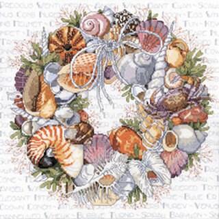Seashell Wreath Counted Cross Stitch Kit