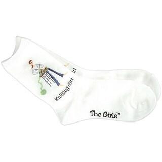 K Bell 'The Girls' White Socks