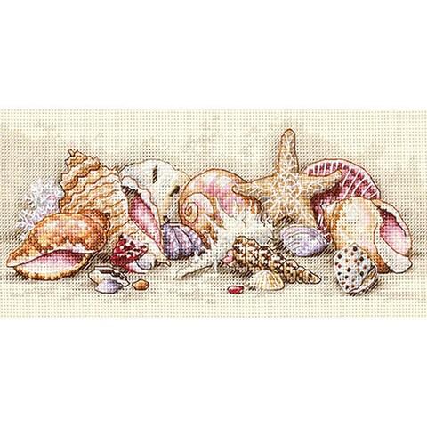 Petite Seashell Treasures Counted Cross Stitch Kit