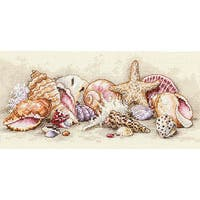 Petite Seashell Treasures Counted Cross Stitch Kit
