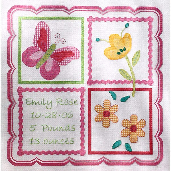 Sophie Birth Record Counted Cross Stitch Kit. Opens flyout.
