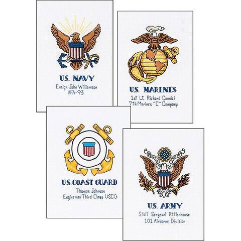 Military Pride Counted Cross Stitch Kit