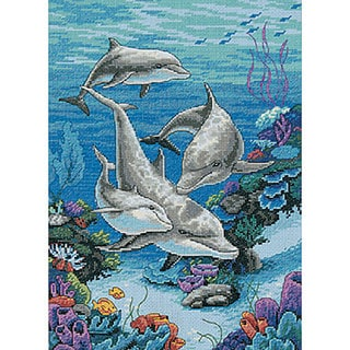 The Dolphins' Domain Counted Cross Stitch Kit