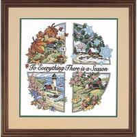 'A Season For Everything' Stamped Cross Stitch Kit