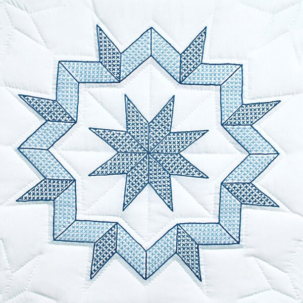 Stamped White Kaleidoscope Quilt Blocks Set Of 6 Free