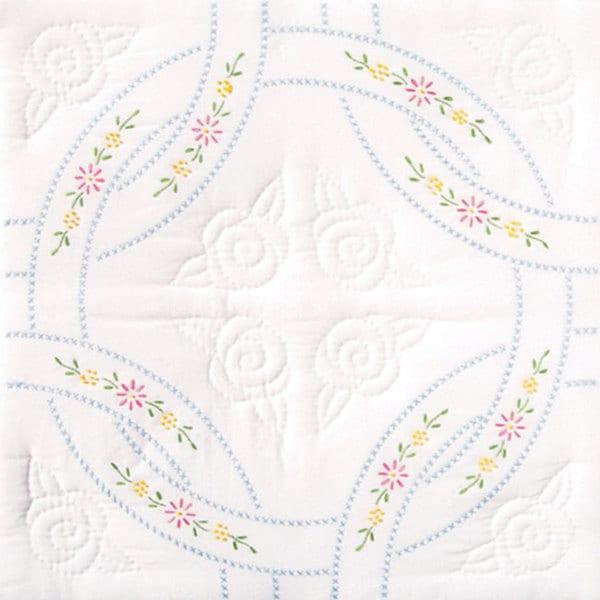 Stamped White Wedding Ring Quilt Blocks Set Of 6 Free