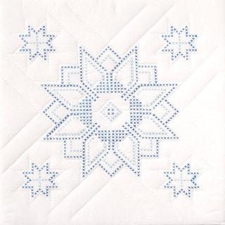 Stamped White Star Quilt Blocks (Set of 6)