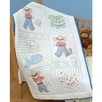 Stamped White Quilt Top with Dreamland Design for Crib