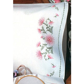 'Gloriosa' Embroidery Pillowcase Kit (Set of 2)