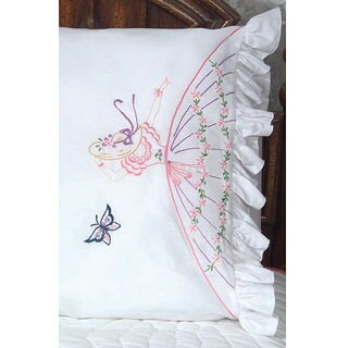 Colonial Lady Stamped Embroidery Pillowcase