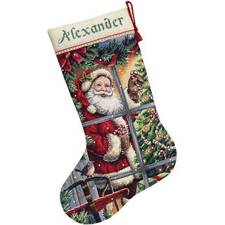 Santa Christmas Stocking Counted Cross Stitch Kit