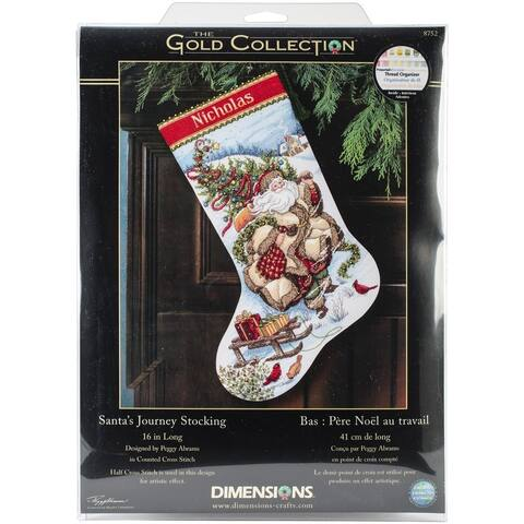 Santa's Journey Counted Cross Stitch Stocking Kit