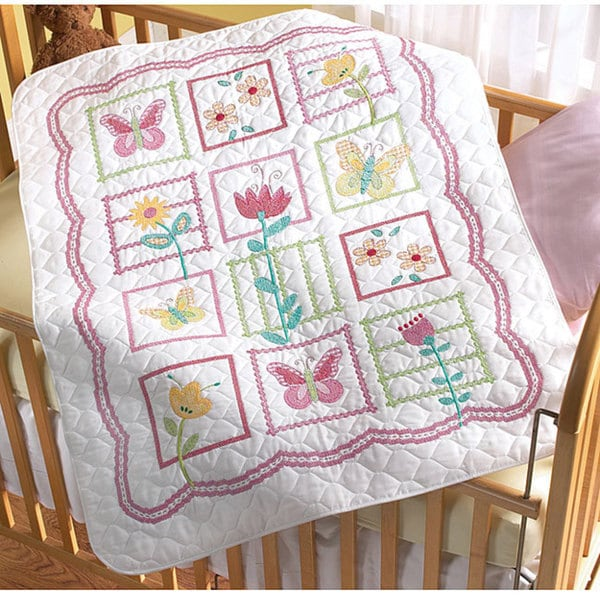 Shop Bucilla Sophie Crib Cover Stamped Cross Stitch Kit
