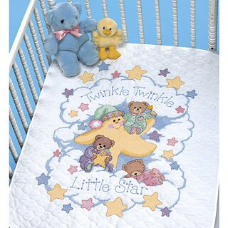 'Twinkle Twinkle' Stamped Cross Stitch Quilt Kit