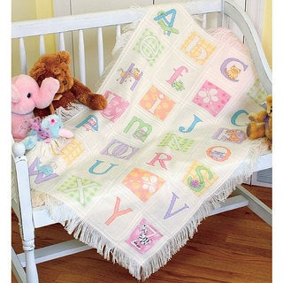 'Baby Hugs' ABC Counted Cross Stitch Afghan Kit