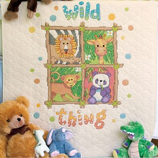 Baby Hugs 'Wild Thing' Quilt Stamped Cross Stitch Kit