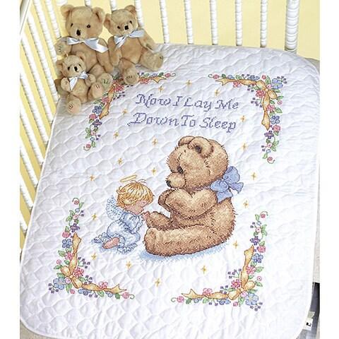 Baby Hugs So Sweet Prayer Cross Stitch Quilt Kit
