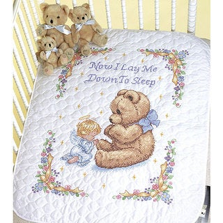 Baby Hugs So Sweet Prayer Cross Stitch Quilt Kit