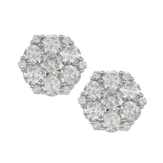 Eloquence 14k White Gold 2ct TDW Diamond Blossom Earrings https://ak1.ostkcdn.com/images/products/3344396/3344396/14k-White-Gold-2ct-TDW-Diamond-Cluster-Earrings-G-H-I1-P11436621.jpeg?impolicy=medium