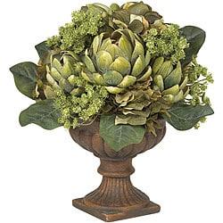 Silk Artichoke Flower Centerpiece Arrangement