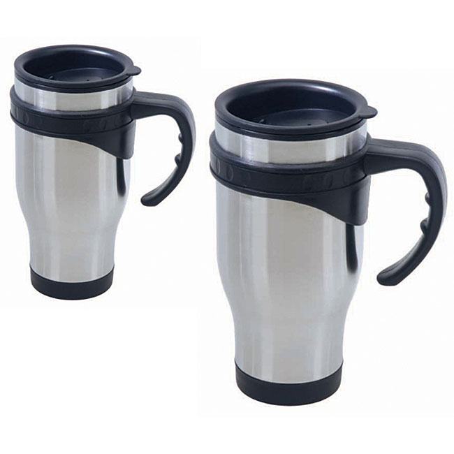 Stainless Steel Coffee Mugs (Set of 2)