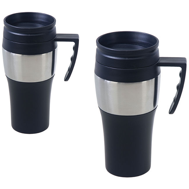 Stainless Coffee Mugs (Set of 2)