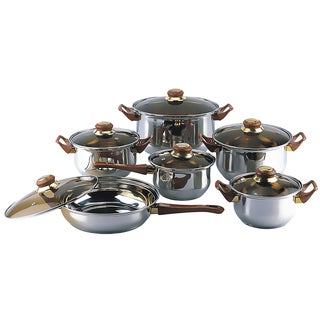 Link to Gourmet Chef 12-piece Covered Cookware Set Similar Items in Cookware