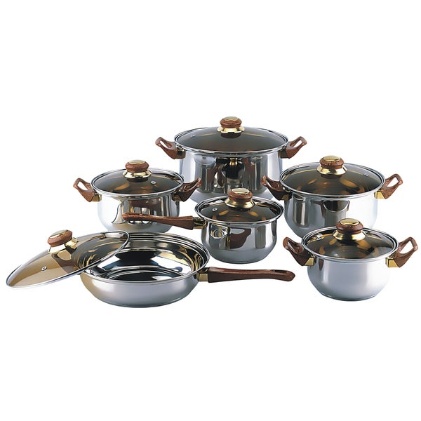 Gourmet Chef 12-piece Covered Cookware Set. Opens flyout.