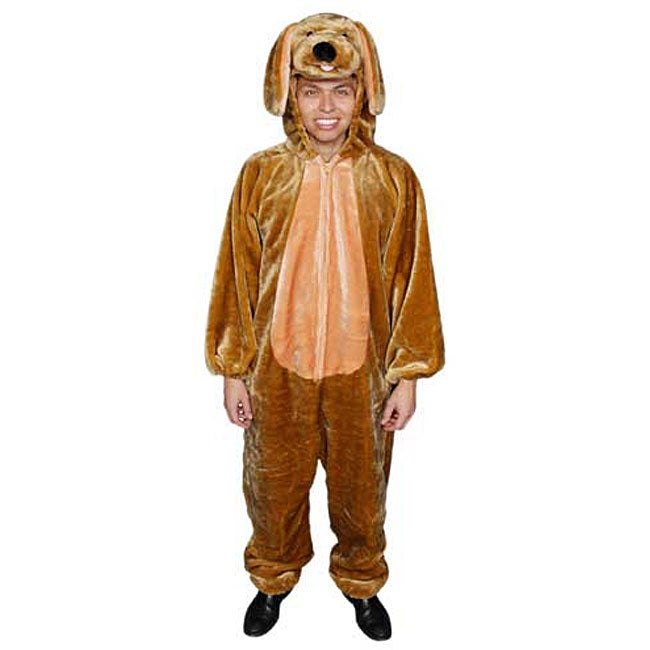 Adult Brown Puppy Jumpsuit Costume