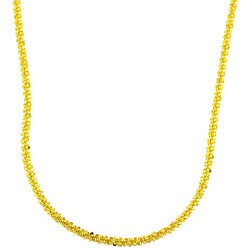 Goldkist 18k Gold over Silver Margherita Necklace