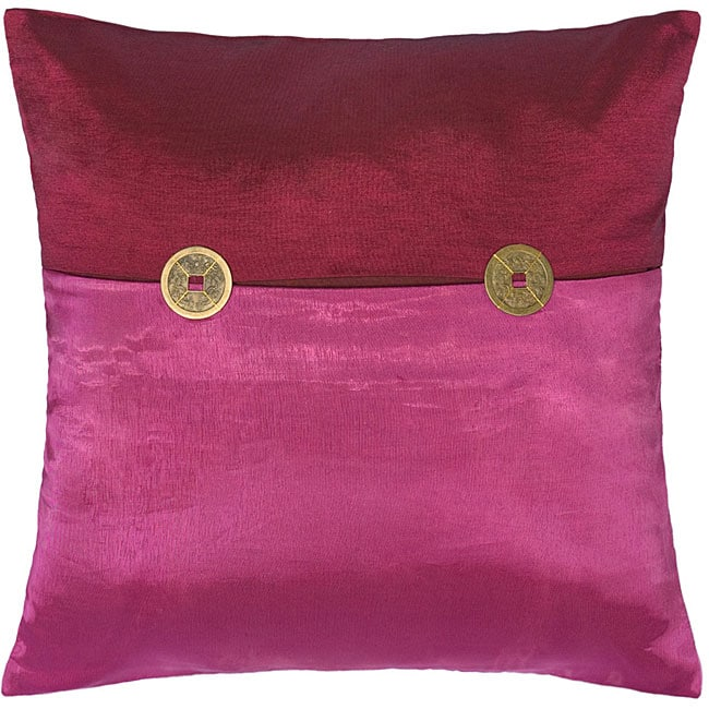 Fuchsia Mulberry Thai Silk Cushion Cover