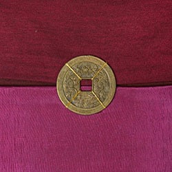 Fuchsia Mulberry Thai Silk Cushion Cover - Thumbnail 2